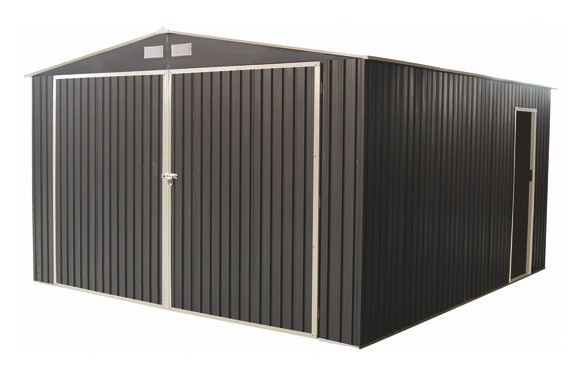 Garaje metalico oxford gris antracita medidas 540 x 380 x 232 cm