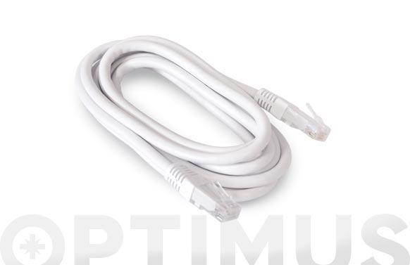 Cable ethernet cat6 cu rj45-rj45 blanco 2m