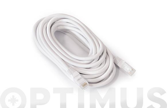 Cable ethernet cat6 cu rj45-rj45 blanco 5m