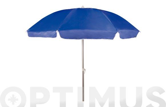 Parasol playa aluminio  diametro 210 cm tubo 32/32 + uv azul