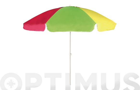 Parasol playa diametro 240 cm inclinable tubo 32/32 + uv50 multicolor
