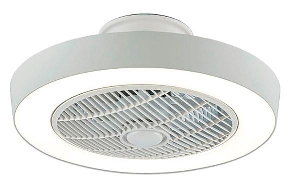 Ventilador techo 7 aspas con plafon led mando blan 55w plafon ø50cm
