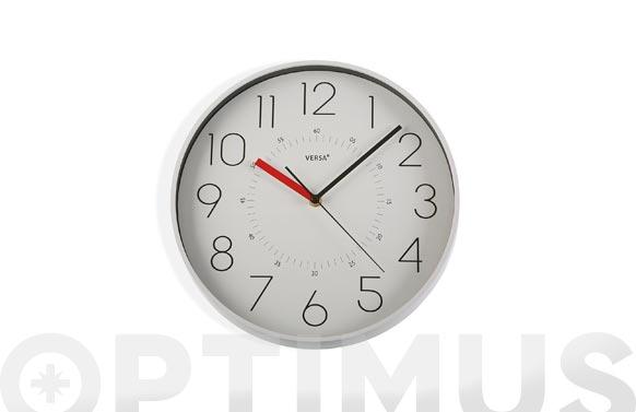 Reloj pared redondo ø31,5 cm - blanco