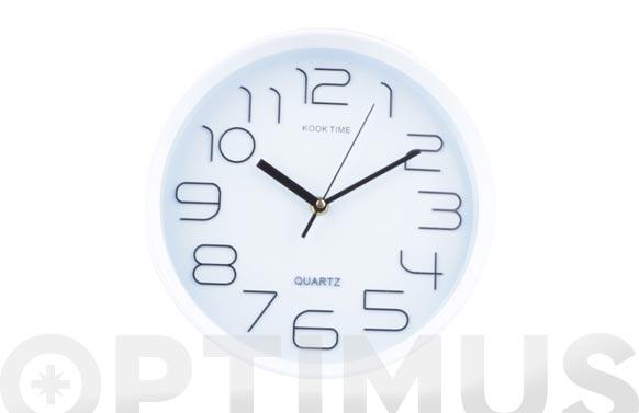 Reloj pared redondo ø30 cm - blanco