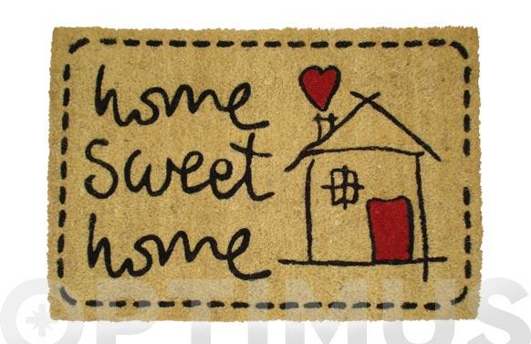 Felpudo coco home sweet home 40 x 60 cm - casa