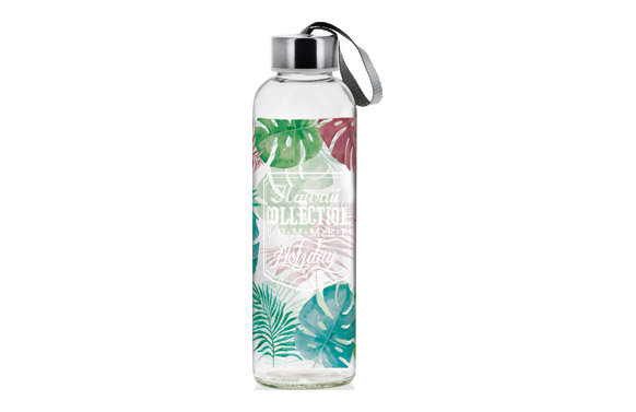 Botella cristal decorada 0,5 l - hawaii