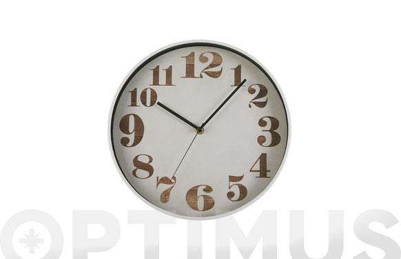Reloj pared redondo vintage ø30 cm - blanco