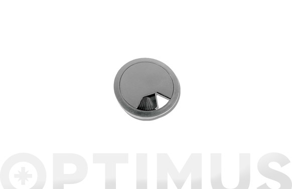 Tapa pasacables 60 mm gris