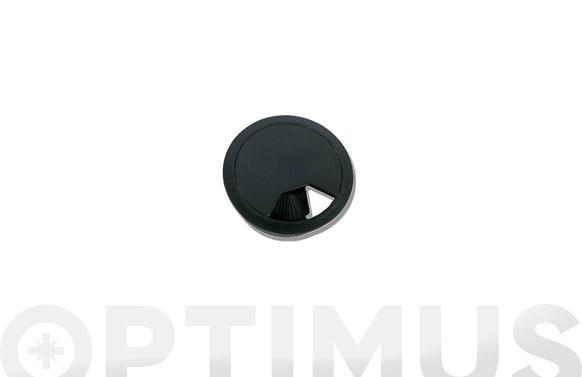 Tapa pasacables 60 mm negro