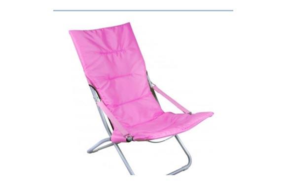 Silla relax  plegable rosa