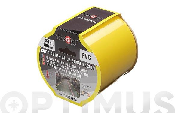 Cinta adhesiva señalizacion 33 m x 100 mm amarilla