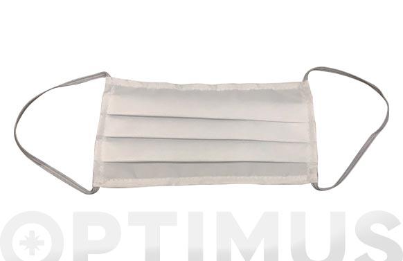 Mascarilla reutilizable 85 lavados blanca
