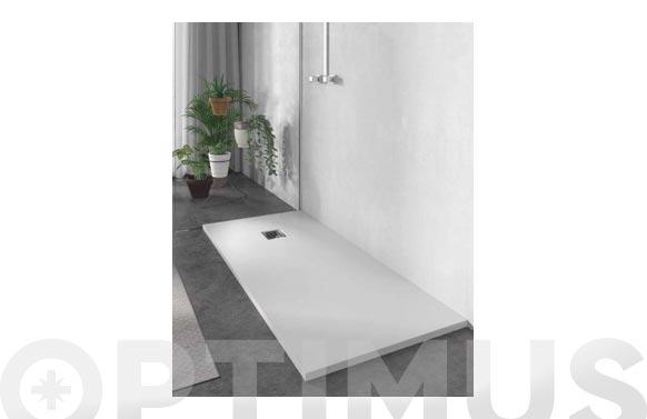 Plato de ducha de resina blanco 120 x 70 cm