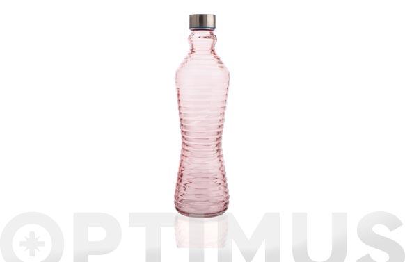 Botella cristal 1l - rosa