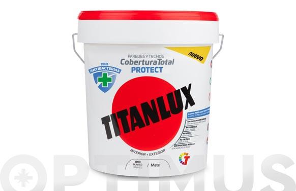 Pintura plastica antibacterias cobertura total protect 4 l blanco