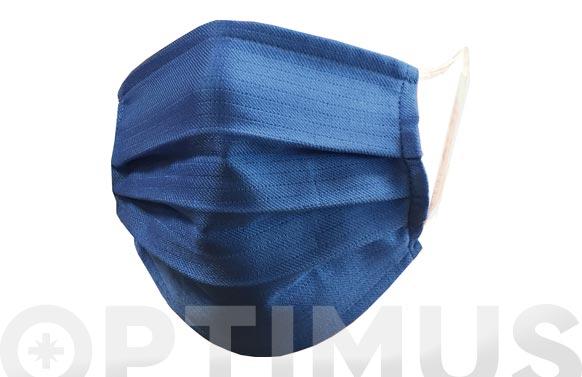 Mascarilla reutilizable lavable azul