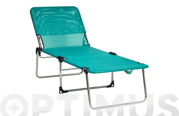 Cama aluminio alta posiciones fribeline azul cielo