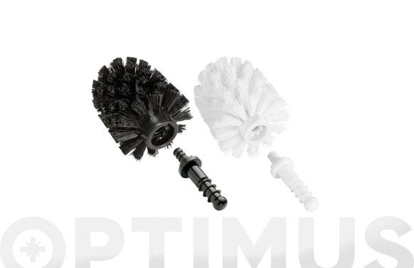 Cepillo de recambio con adaptador diametro 7.5 cm, negro