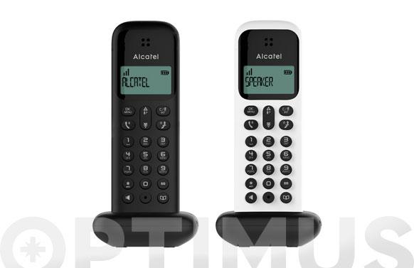 Telefono inalambrico d285 duo black+white