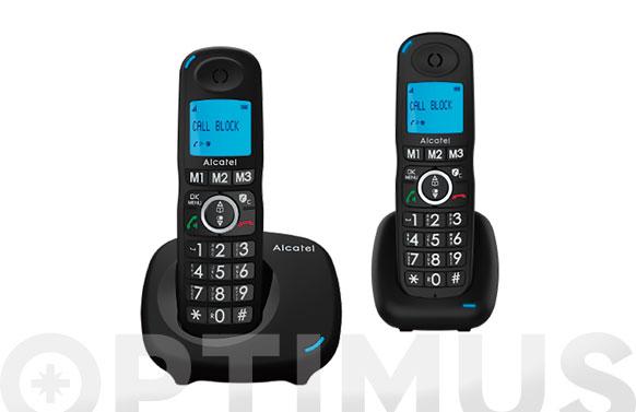 Telefono inalambrico xl535 duo call block negro