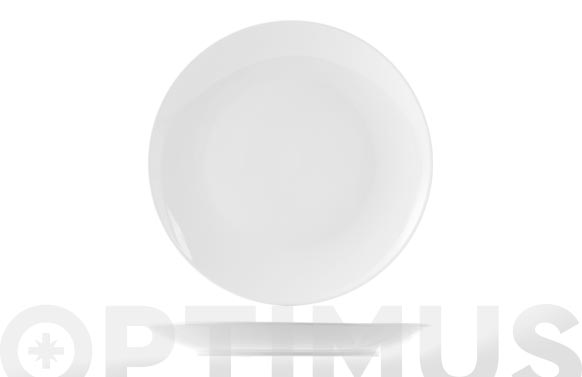 Plato porcelana sweden coupe blanco postre - 20,5 cm