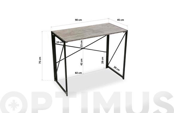 Mesa escritorio plegable 90x75x45 cm