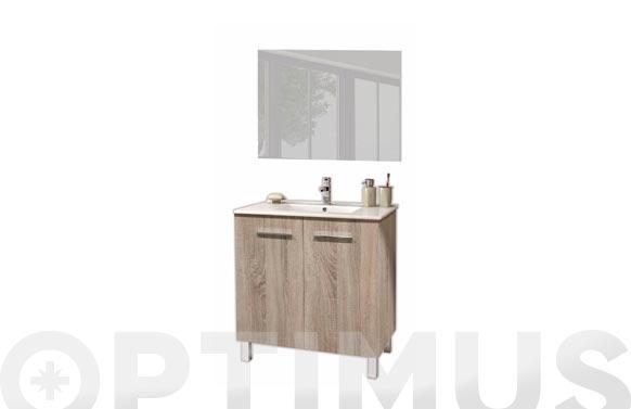 Mueble baño 60cm + espejo + lavabo cambrian 60 x 80 x 45 cm