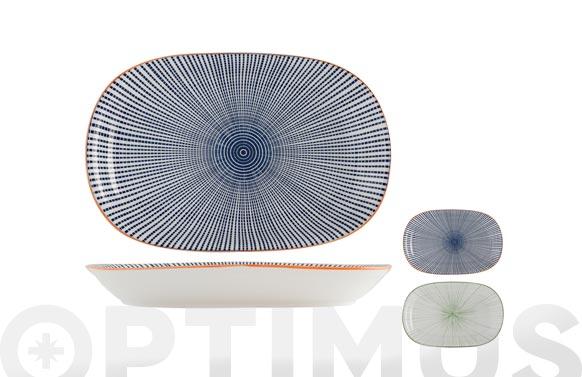 Bandeja porcelana ovalada full decorado 20,5 x 30,5 cm - surtida