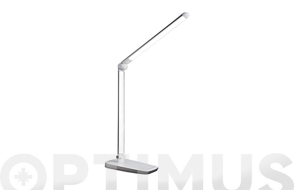 Lampara escritorio led 10w blanca. regulable. usb