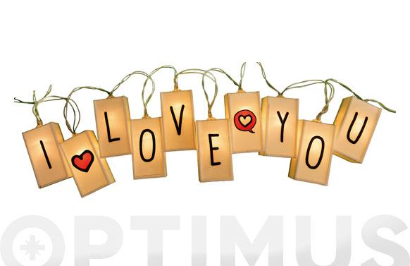 Guirnalda decorativa led letras y signos