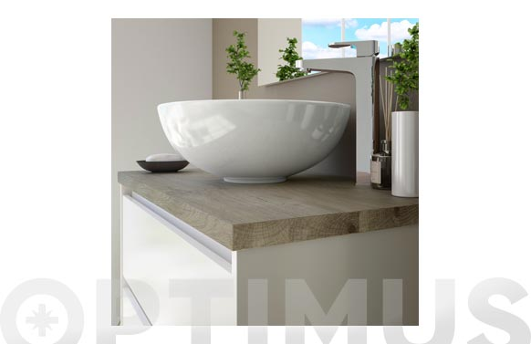 Lavabo sobreponer redondo blanco 16 x 41,5 x 41,5 cm