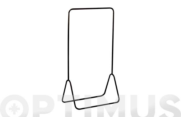 Perchero metal negro 145 x 80 x 44 cm