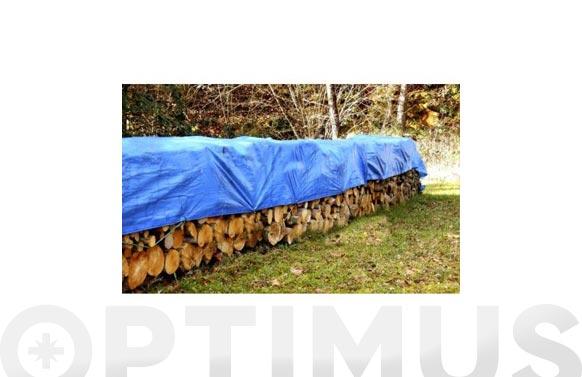Toldo polietileno 90 grs con ojales azul/verde 3 x 5 m