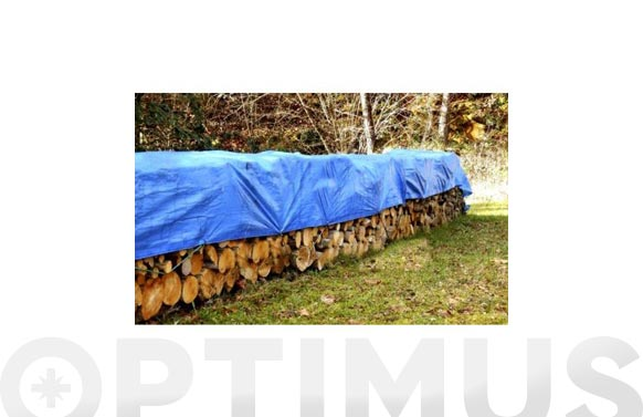 Toldo polietileno 90 grs con ojales azul/verde 5 x 8 m
