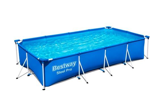 Piscina rectangular 400x211x81 cm depuradora 1.219 litros/hora
