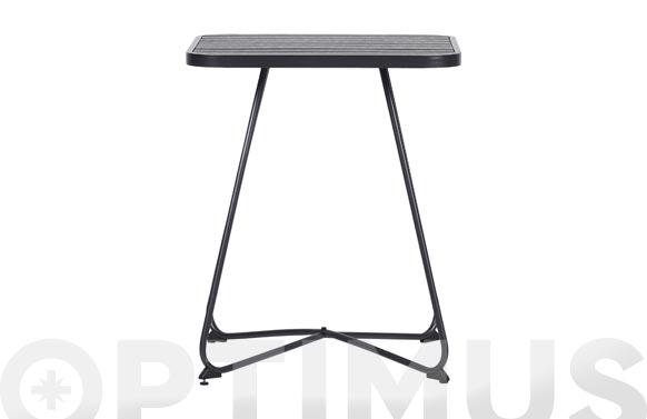 Mesa acero cuadrada 58 x 58 cm negro