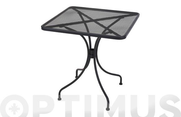 Mesa acero 70 x70 cm gris antracita
