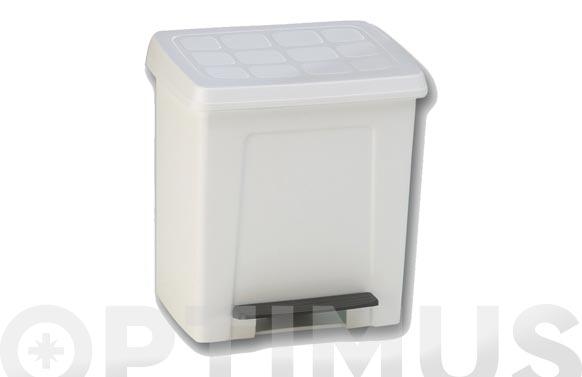 Cubo baño con pedal blanco 8 l