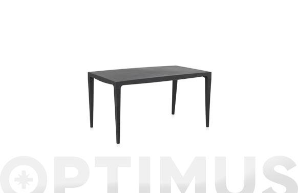 Mesa resina master antracita 140 x 80 cm