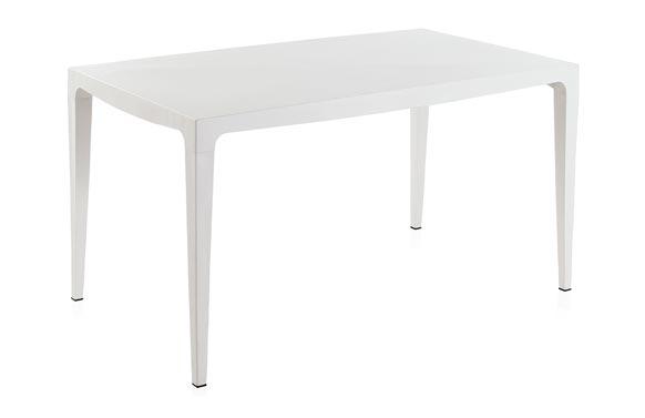 Mesa resina master blanco 140 x 80 cm