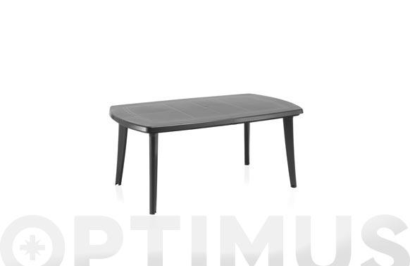 Mesa resina extensible atlantic antracita 170+55x100x73 cm antracita