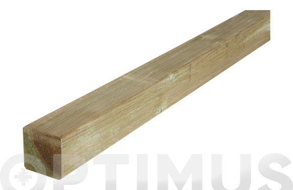 Poste madera cuadrado verde   9x9x240 cm
