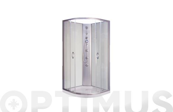Cabina de ducha 1/4 con paneles blanca dp-1902
