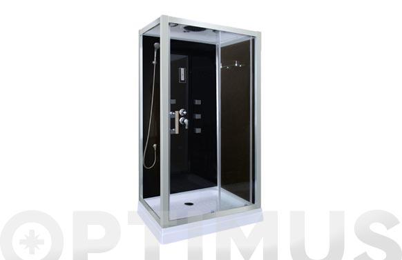 Cabina de ducha de 70x100 con paneles negro dp-1401
