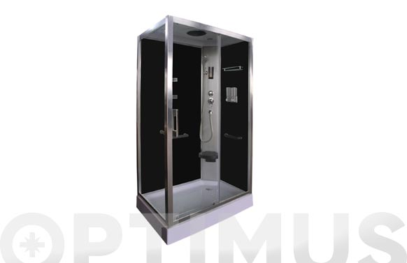 Cabina de ducha de 80x120 con paneles negro dp-8001