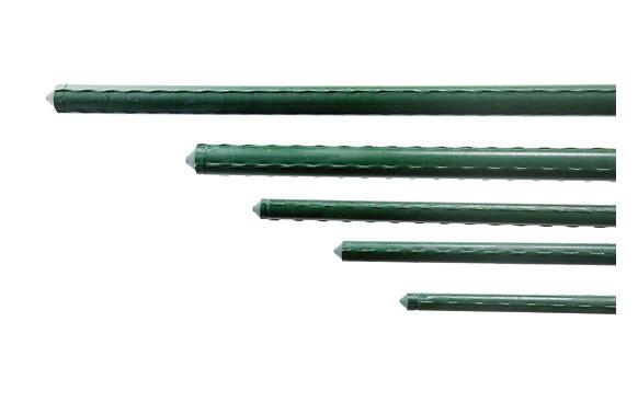 Tutor acero plastificado dia 11mm largo 1,20m