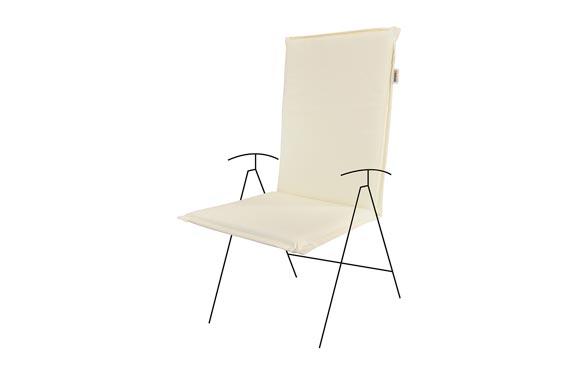 Cojin silla con respaldo alto zippo crudo 115 x 48 x 6 cm