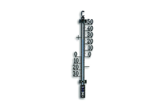 Termometro atmosferico exterior metal negro