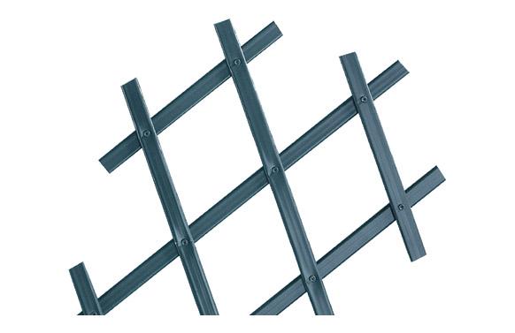 Celosia extensible plastico trelliflex  antracita 200 x 100 cm
