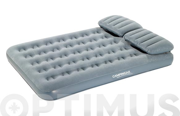 Colchon cama doble hinchable con almohada 137 x 188 x 19 cm